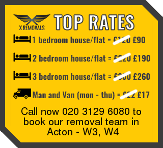 Removal rates forW3, W4 - Acton