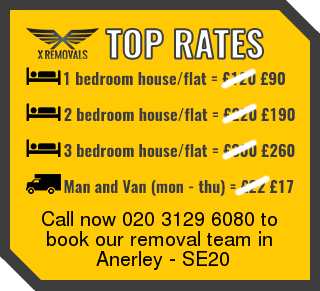 Removal rates forSE20 - Anerley