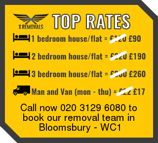 Removal rates forWC1 - Bloomsbury