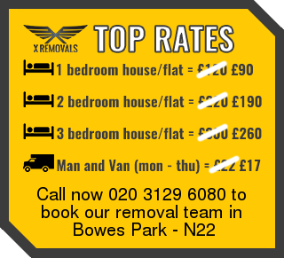 Removal rates forN22 - Bowes Park