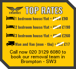 Removal rates forSW3 - Brompton
