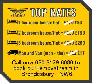 Removal rates forNW6 - Brondesbury
