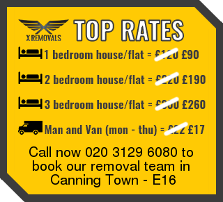 Removal rates forE16 - Canning Town