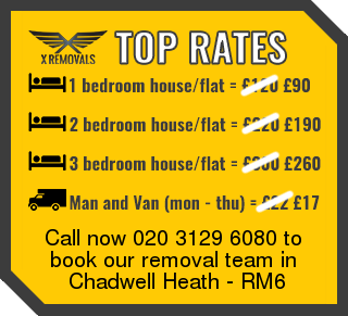 Removal rates forRM6 - Chadwell Heath