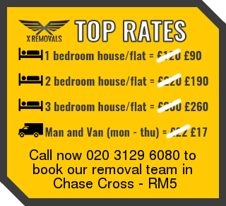 Removal rates forRM5 - Chase Cross