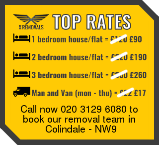 Removal rates forNW9 - Colindale