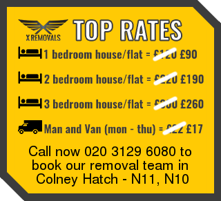 Removal rates forN11, N10 - Colney Hatch