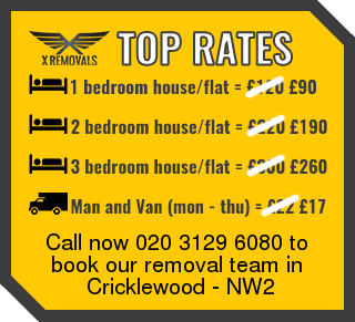 Removal rates forNW2 - Cricklewood