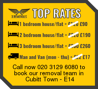Removal rates forE14 - Cubitt Town