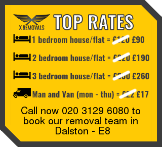 Removal rates forE8 - Dalston