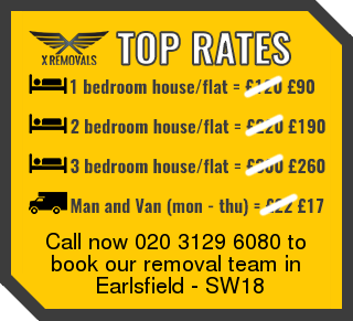Removal rates forSW18 - Earlsfield