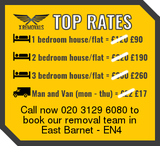 Removal rates forEN4 - East Barnet