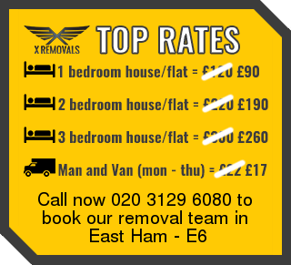 Removal rates forE6 - East Ham