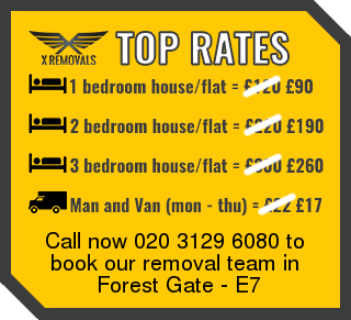 Removal rates forE7 - Forest Gate