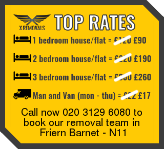 Removal rates forN11 - Friern Barnet