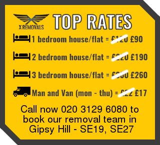 Removal rates forSE19, SE27 - Gipsy Hill