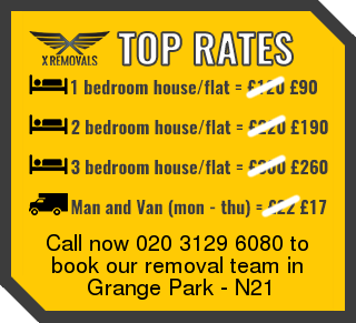 Removal rates forN21 - Grange Park