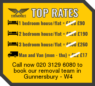 Removal rates forW4 - Gunnersbury
