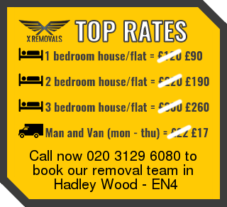 Removal rates forEN4 - Hadley Wood