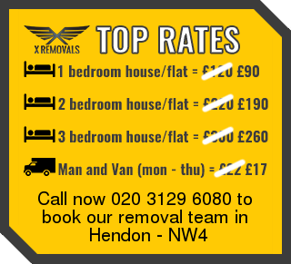 Removal rates forNW4 - Hendon