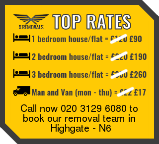 Removal rates forN6 - Highgate