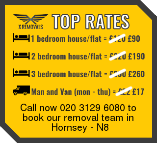 Removal rates forN8 - Hornsey