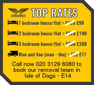 Removal rates forE14 - Isle of Dogs
