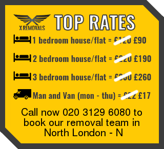 Removal rates forN - North London