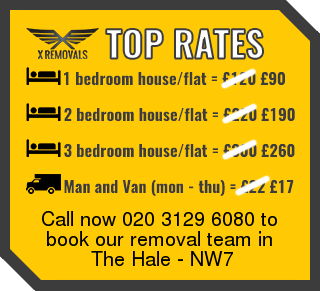 Removal rates forNW7 - The Hale