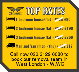 Removal rates forW,WC - West London