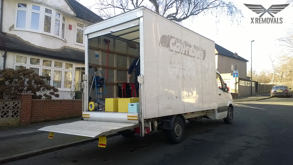 Loading a removal van